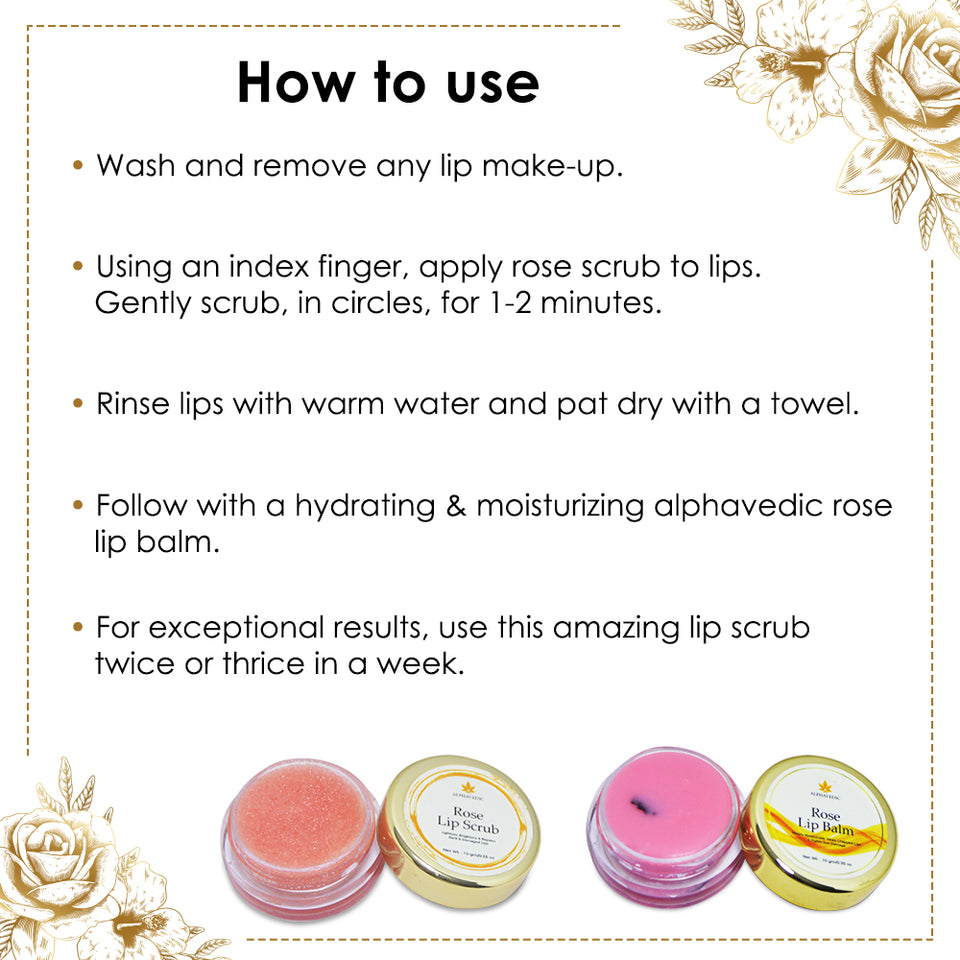 Rose Lip Balm and Lip Scrub Combo 10GM