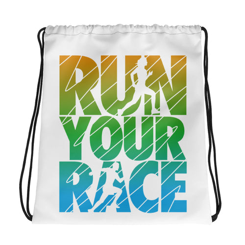 Run Your Race Drawstring bag - BrokenBeYoutiful