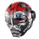 casco moto iron man