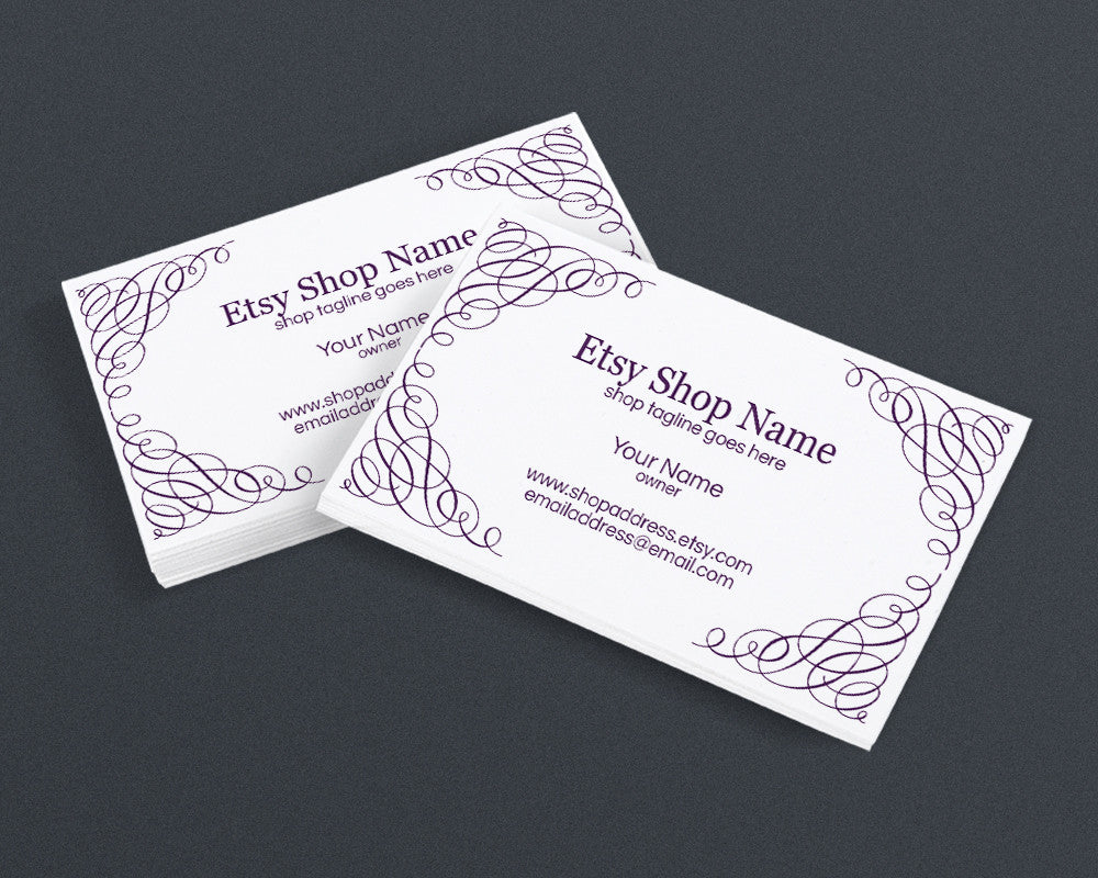 Abstract Elegance - 30-08-ill - Business Card Design