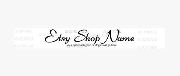 Simple Text A10 -  Etsy Shop Banner
