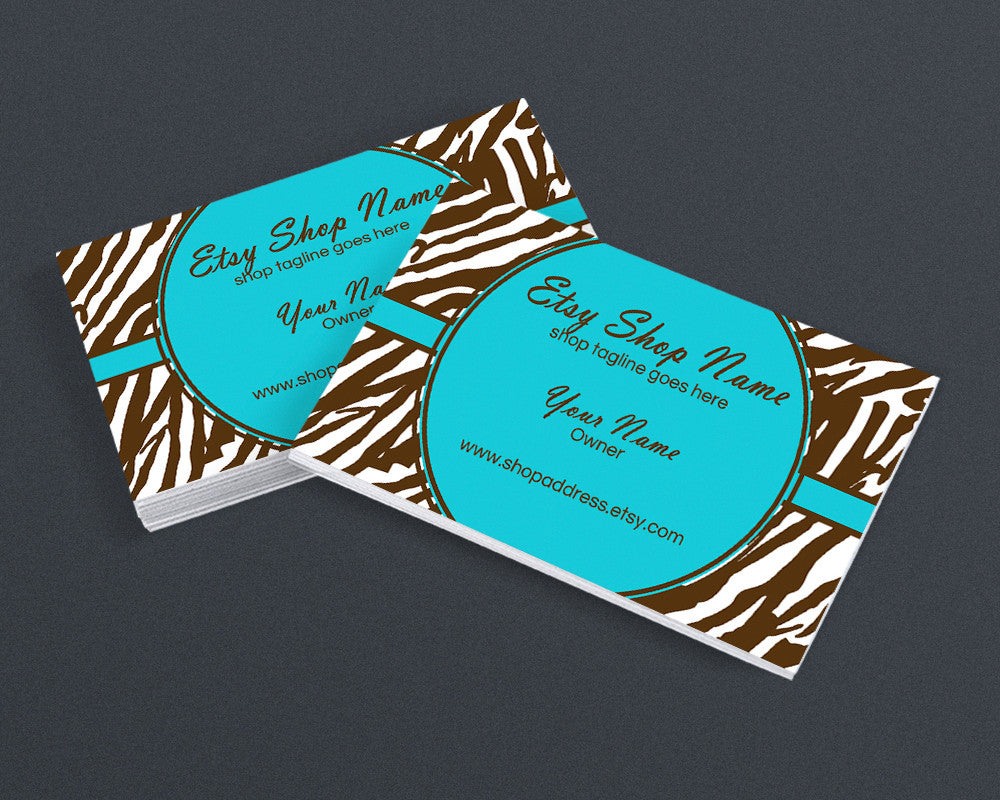 Zebra Print 5 - Printable Business Card Design