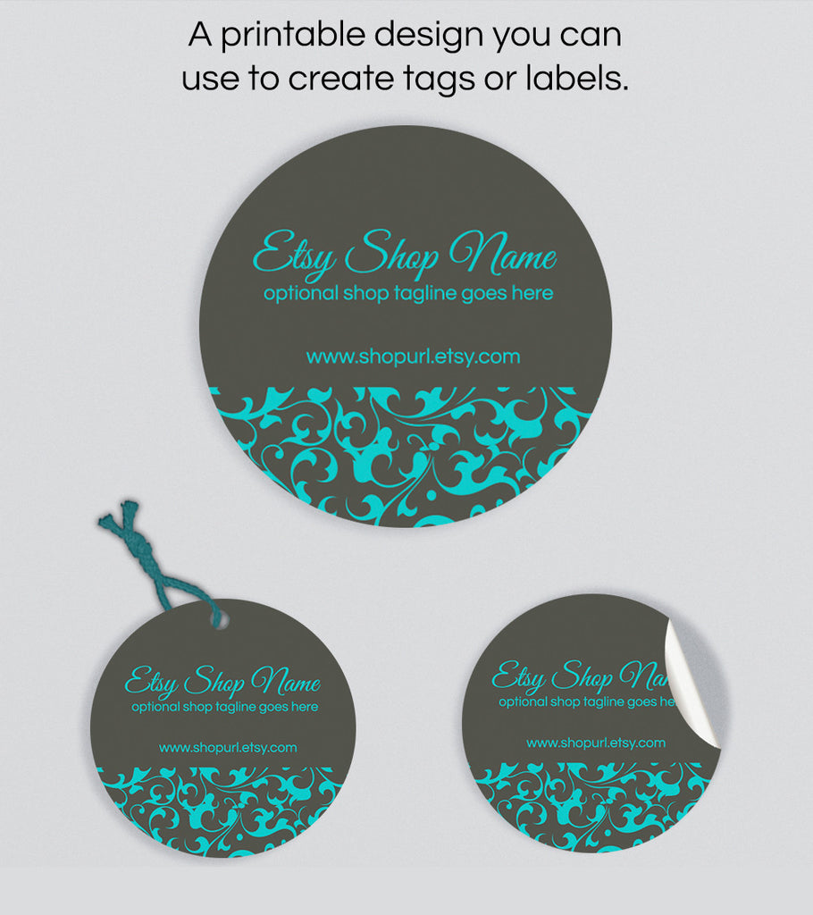 Round Product Labels or Hang Tags - Ornamental PS3