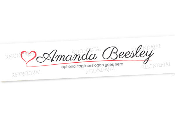 Logo Style 12 - Website Header Banner - Blog Design - Header Banner - The Amanda Beesley