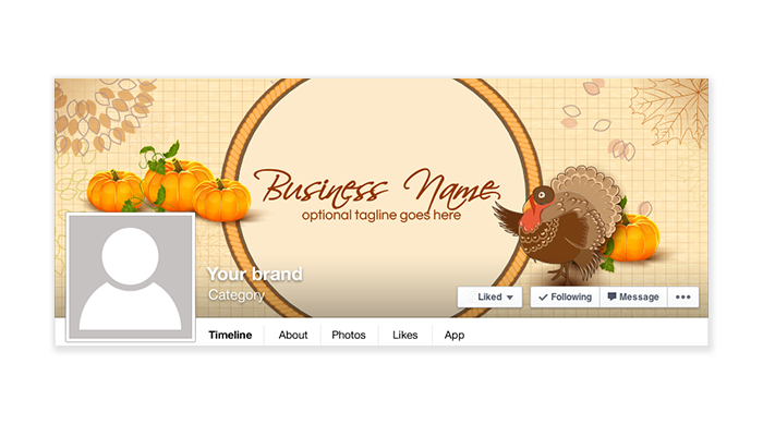 Fall Thanksgiving Facebook Timeline Cover - 138