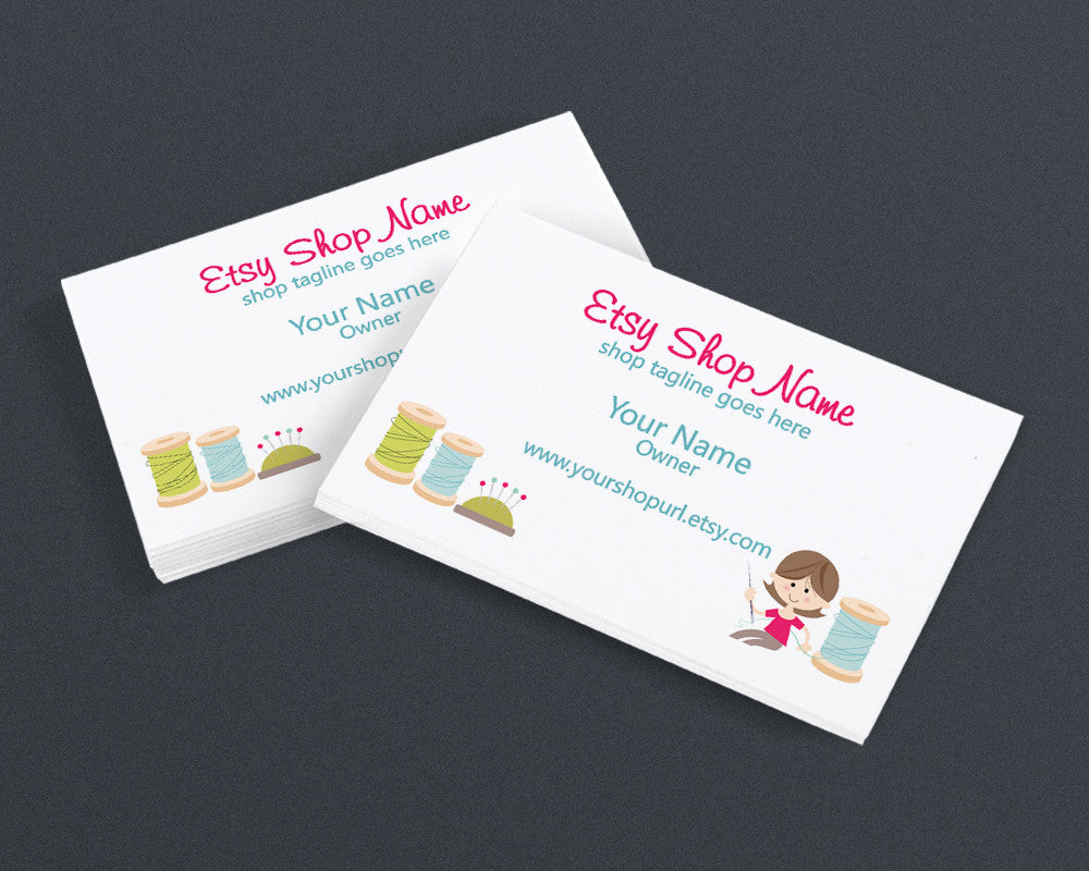 Sewing 5 - PS - Printable Business Card Design