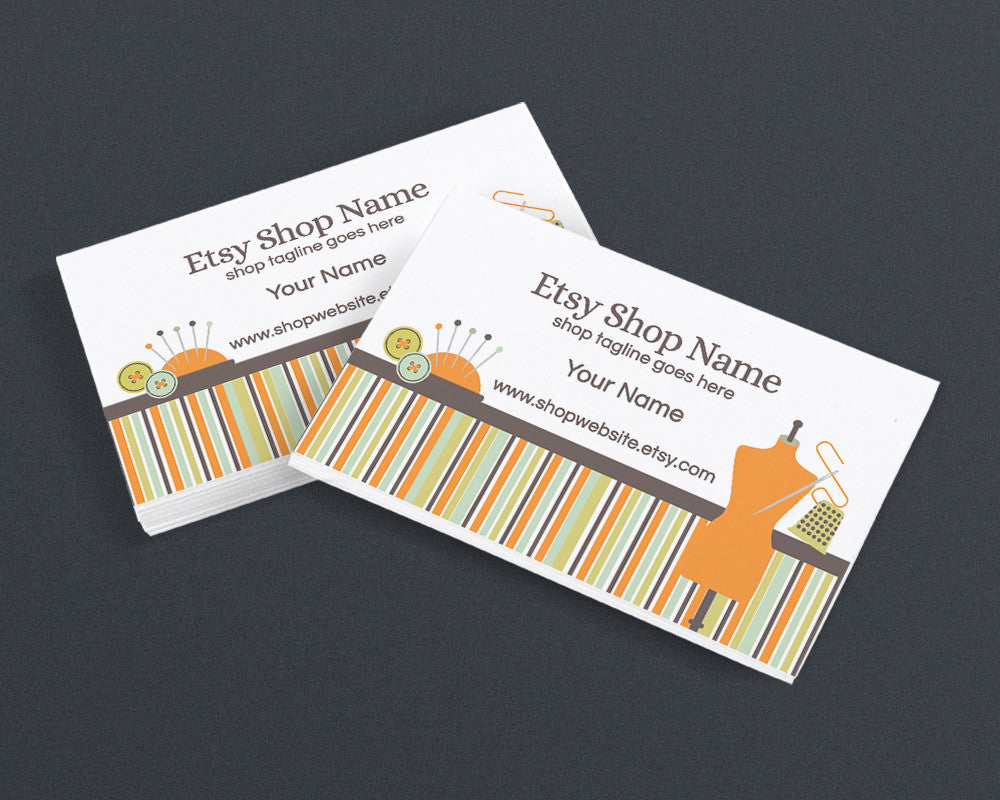 Business Card Design - Sewing 2 - Printable Business Card