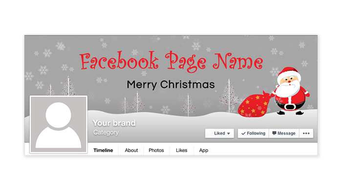 Christmas Facebook Timeline Cover - 147 - Happy Holiday