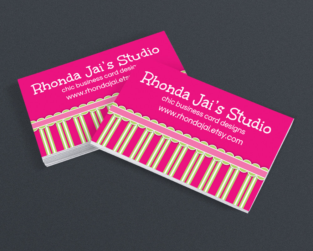 Printable Business Card Design - Girly 2