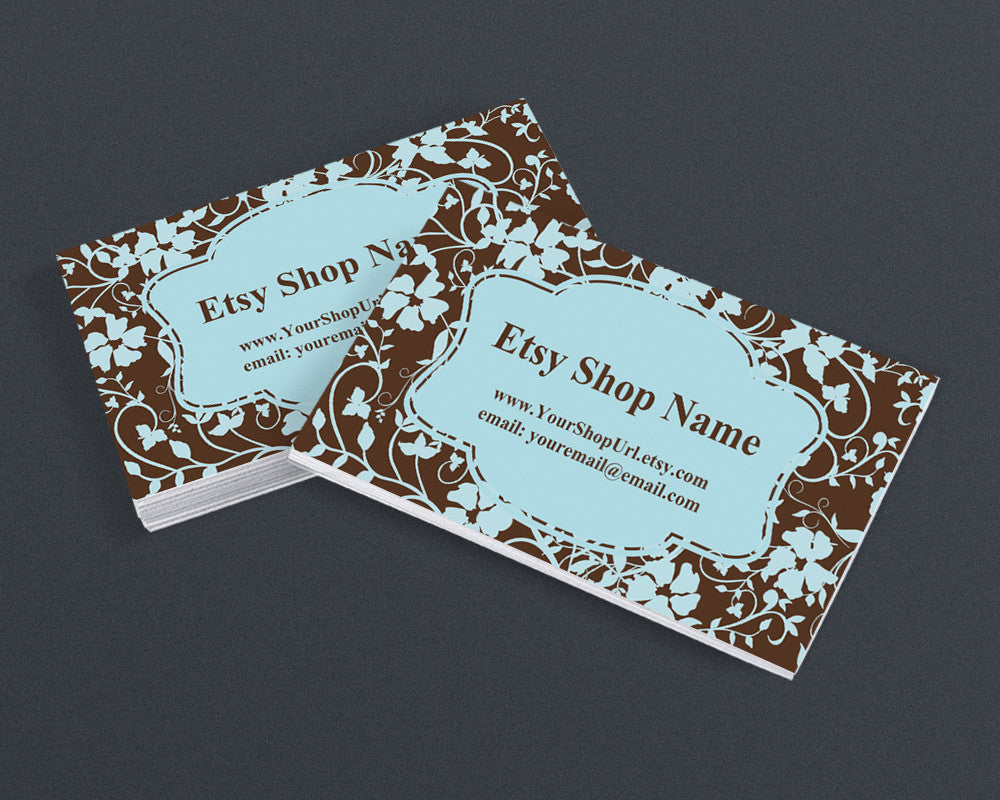 Business Card Design - Floral 51 - Printable Business Card