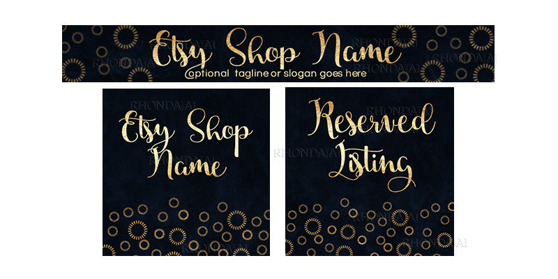 Etsy Banner Set - 3 Piece Etsy Banner Set - Jamie Lee