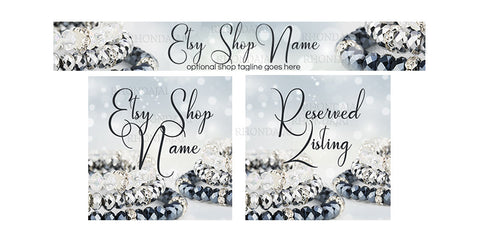 Jewelry Etsy Banner Set - 3 Piece Etsy Banner Set - Jewelry 7