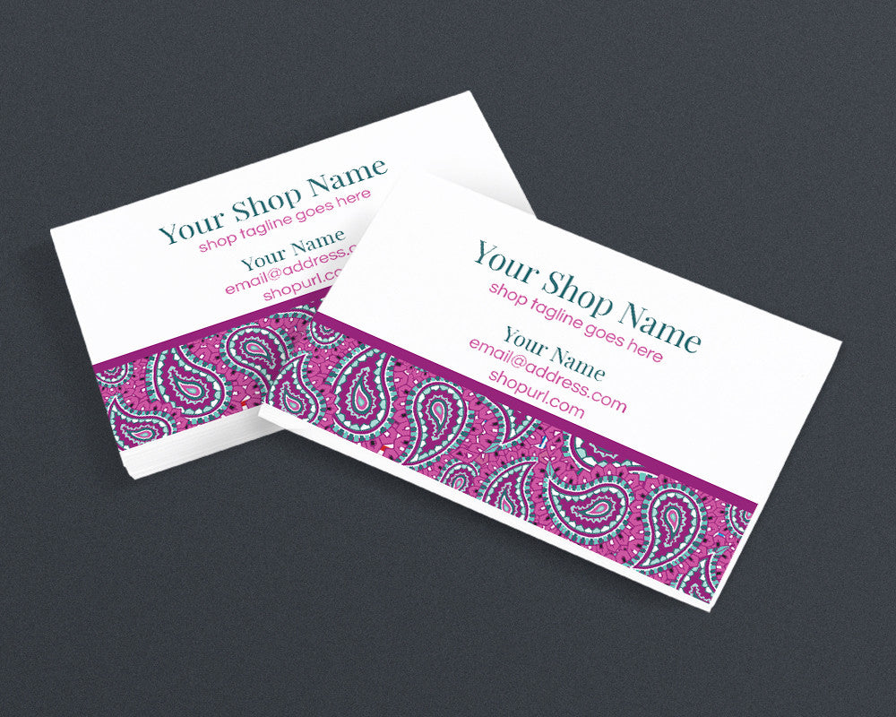 Paisley 1 - il - Printable Business Card Design