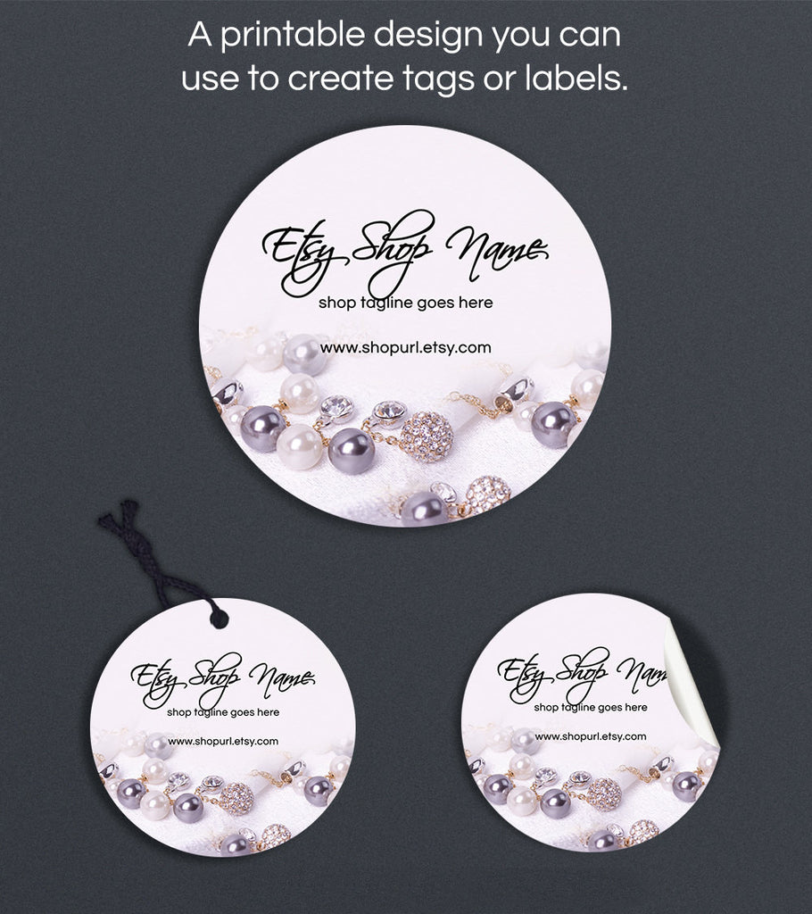 Round Product Labels or Hang Tags - Printable Round Label Design - Jewelry 5