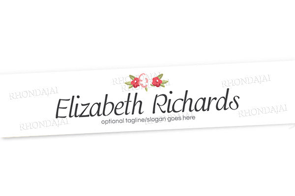 Logo Style 6 - Website Header Banner - Blog Design - Header Banner - The Elizabeth Richards