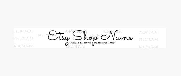 Simple Text A6 -  Etsy Shop Banner