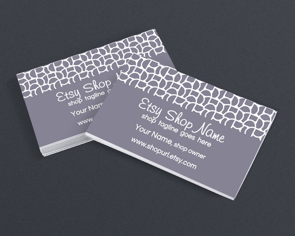 Business Card Design - Abstract 95 Gray - Printable Business Card