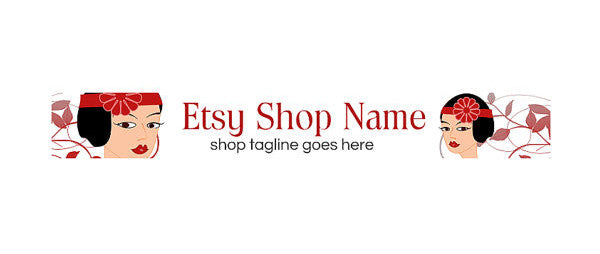 Lady 3 - Etsy Shop Banner