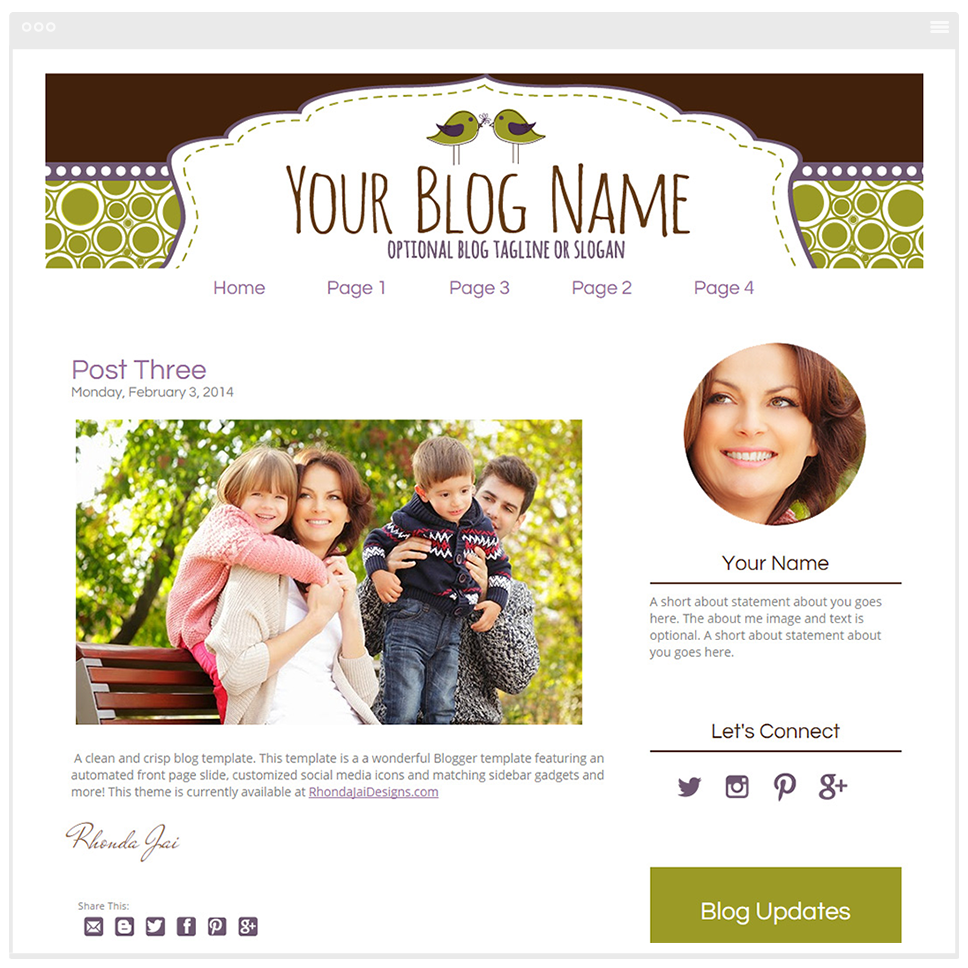 Boutique Chic - Premium Blogger Template - Blog Design