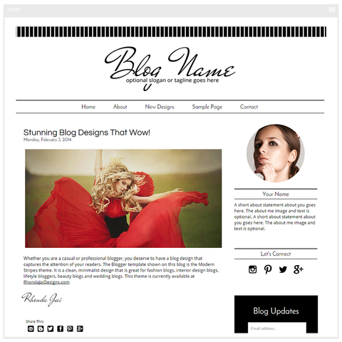 Camilla - Premium Blogger Template - Blog Design