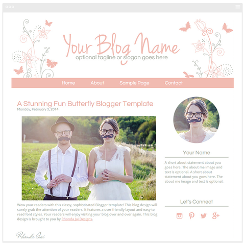 Butterfly Fun - Premium Blogger Template - Blog Design
