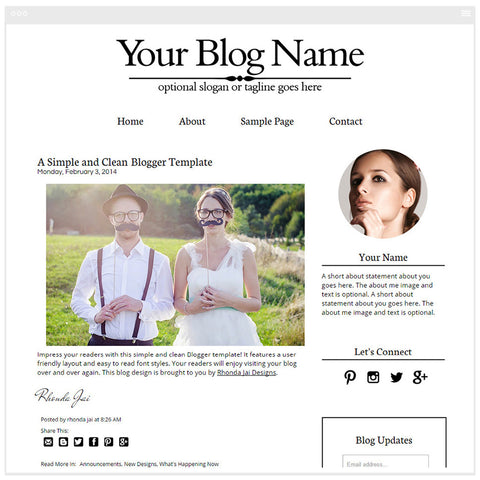 Minimalist  Simple 1 - Premium Blogger Template - Blog Design
