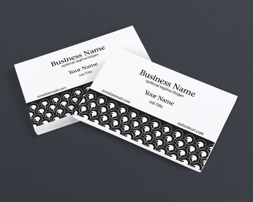 Business Card Design - Chic 2 Black and White 4 - Printable Business Card