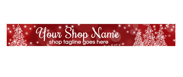 Red Christmas Etsy Shop Banners - PS4