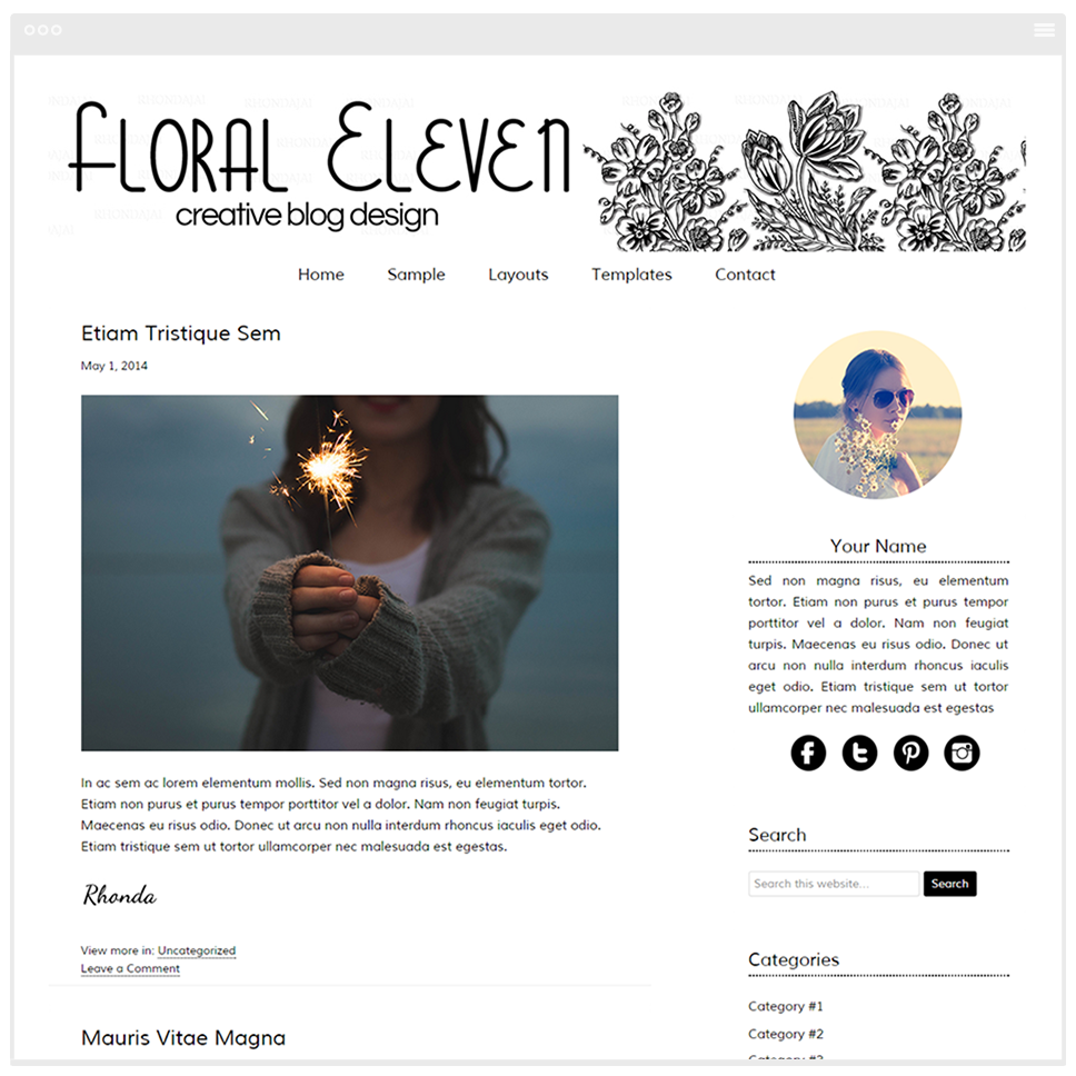 Floral Eleven - Mobile Responsive WordPress Theme - Genesis Child Theme and Framework