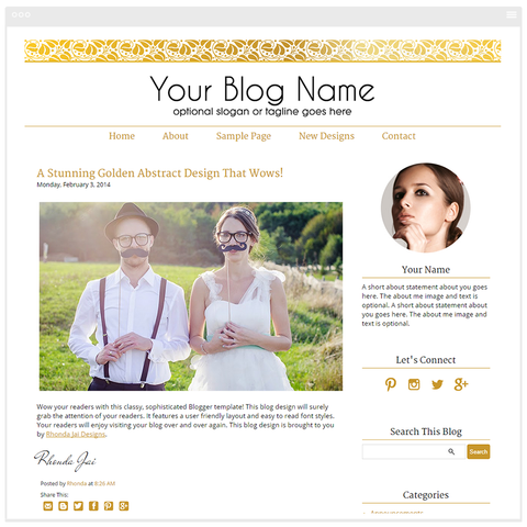 Gold Eleven - Premium Blogger Template - Blog Design