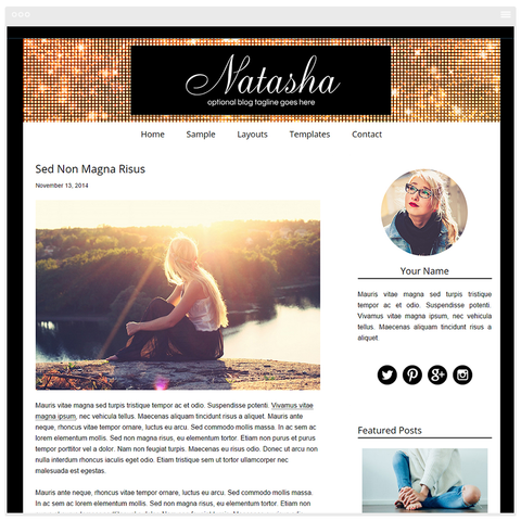 Natasha - Mobile Responsive WordPress Theme - Genesis Child Theme and Framework