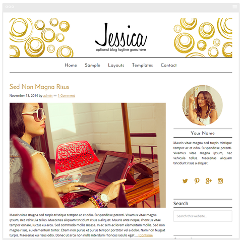 Jessica - Mobile Responsive WordPress Theme - Genesis Child Theme and Framework