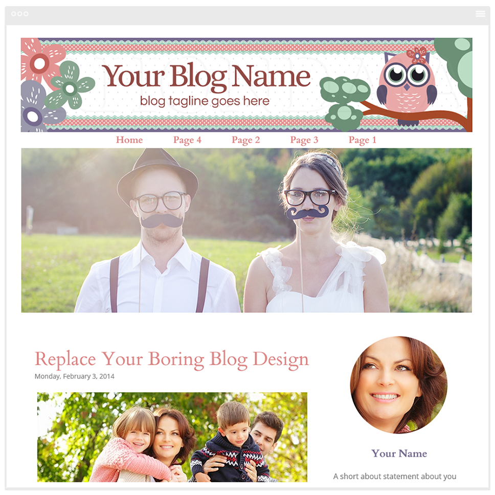 Owl Three - Blogger Template