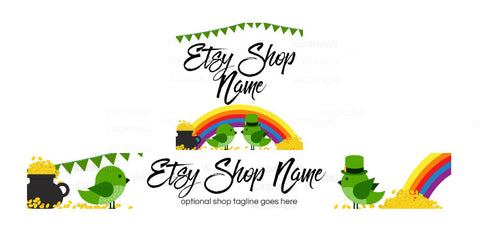 St Patrick's Day Etsy Shop Banner - Etsy Banner and Shop Icon Set - St. Patrick's Day 1-16