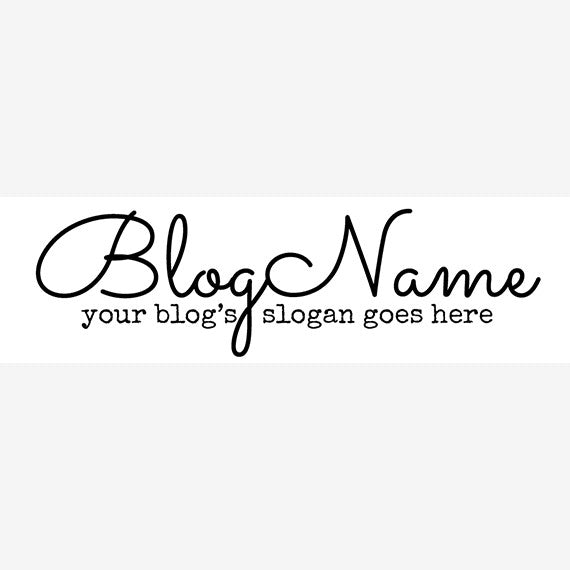 Website Header Designs -  Blog Header Banner - Simple Text 5