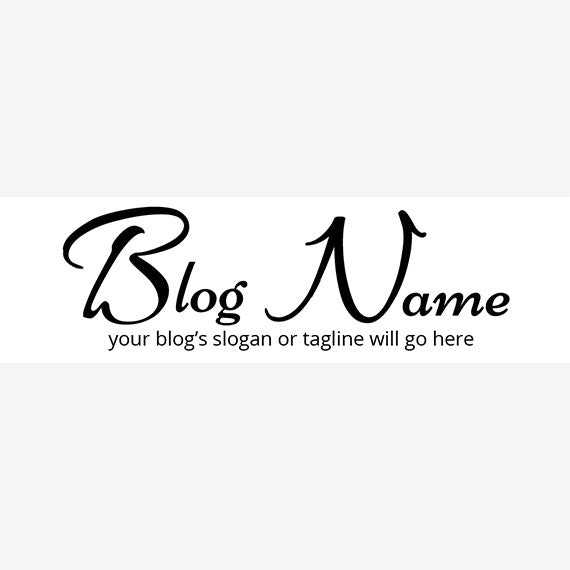 Website Header Designs -  Blog Header Banner - Simple Text 10