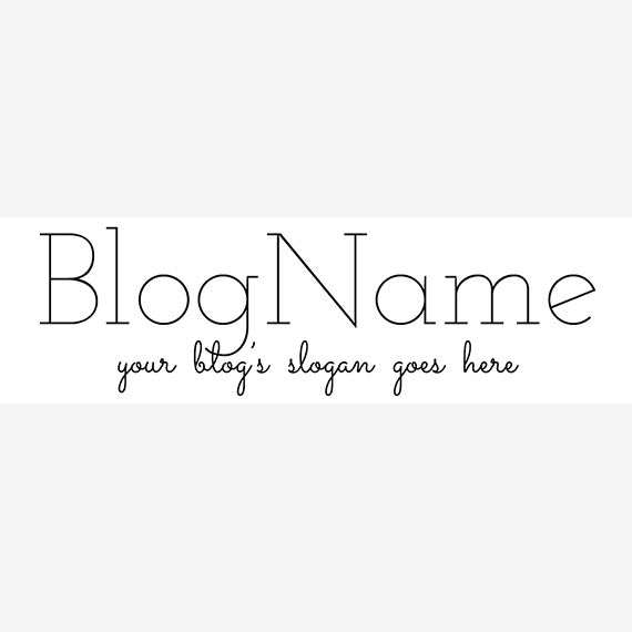 Website Header Designs -  Blog Header Banner - Simple Text 11