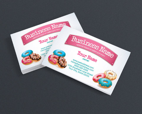 Bakery Business Card Design - Chef Business Card Design -  Donuts Business Card Design - Donuts - Doughnuts 3