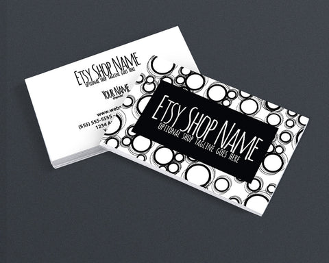 Modern Business Card Design - 2 Sided Business Card Design - Black 1-16