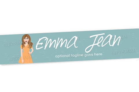 Blog Design - Website Header Banner - Header Banner - Character Emma Jean