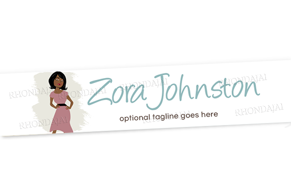Blog Design - Website Header Banner - Header Banner - Character Zora Johnston