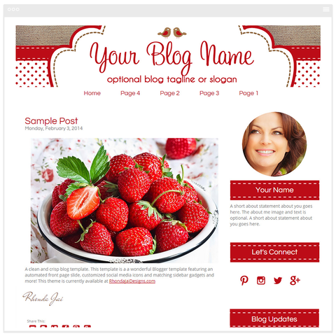 Rustic and Chic - Premium Blogger Template - Blog Design