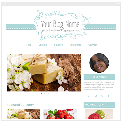 Graceful Isabella Blog Design - Mobile Responsive WordPress Theme - Genesis Child Theme and Framework