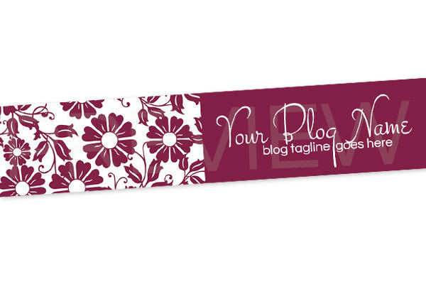 Floral Blog Header Banner Design - Purple 6