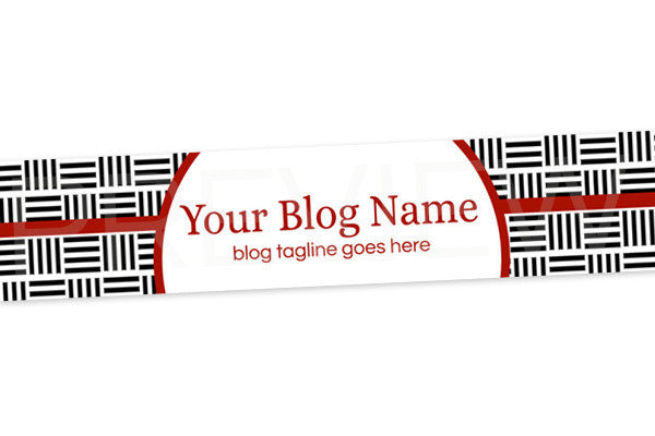 Chic Blog Header Banner Design - Red Black White PS5