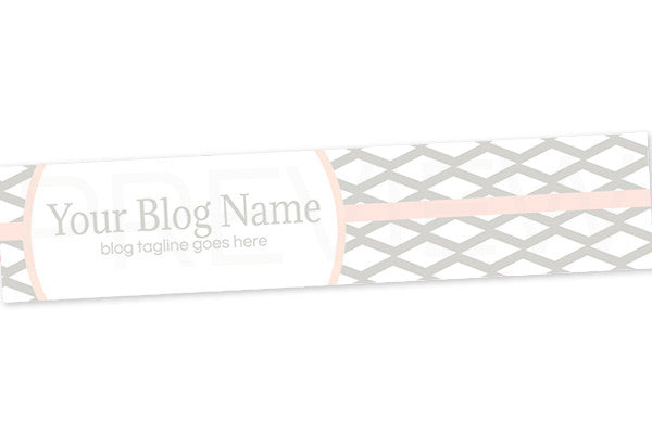Blog Header Banner Design - Grey Pink 2