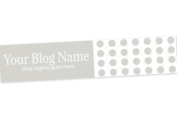 Blog Header Banner Design - Grey 3 - Polka Dots