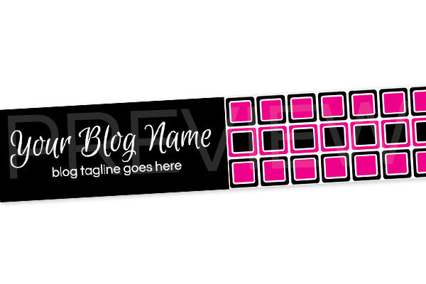 Blog Header Banner - Pink and Black PS3