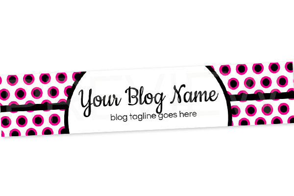 PInk and Black Blog Header Banner - Website Header Banner - PS5