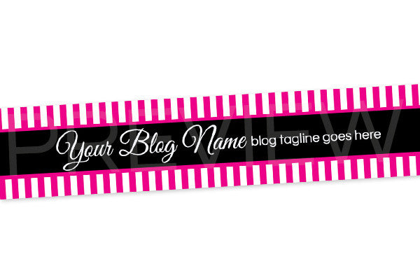 Pink and Black Blog Header Banner - Website Header Banner - PS8